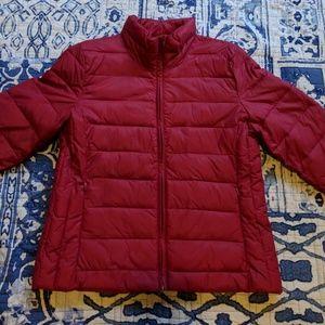 LOFT Pink Puffer Packable Jacket